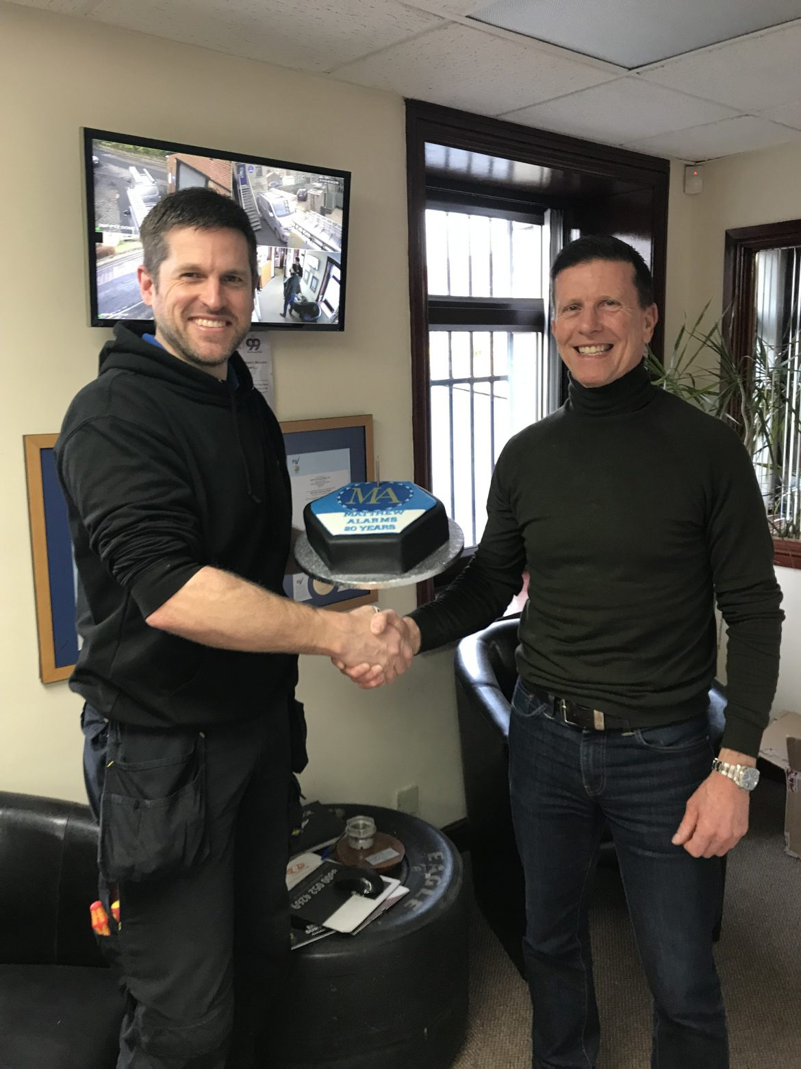 Congratulations to Matthew – 20 years service at Carlton Alarms